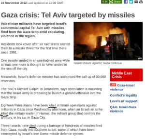 "BBC article: Palestinians ""killed"", Israelis ""died"""