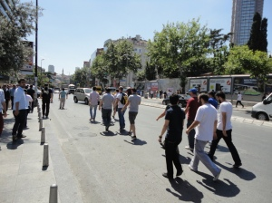 Between Cevahir and the cemetery, heading towards Taksim.