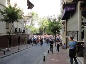 Approaching Vali Konağı Caddesi from Süleyman Nazif Sokağı
