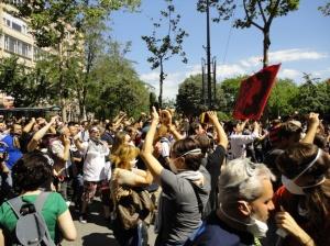 Çarşı and supporters, on Vali Konağı