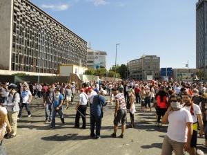 Atatürk Culture Center on the left