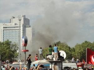 Smoke from Gezi Park