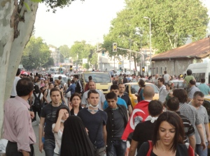 Trying to reach the next left, Şair Nedim Caddesi