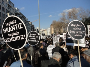 """We are all Hrant, we are all Armenian"" (in Armenian, Turkish, and Kurdish)"