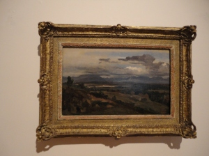 Corot, Civita Castellana, framed on the wall of the Phillips Collection