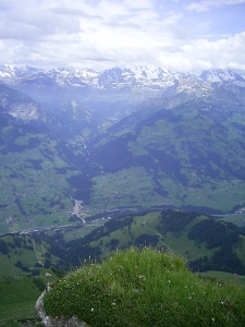 snow-capped mountains seen from the Niesen, Bern, Switzerland, July 5, 2008