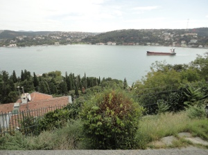 The Bosphorus from the garden of Aşiyan, the house of Tevfik Fikret, October 9, 2015