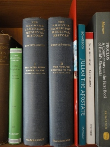 C. W. Previté-Orton, The Shorter Cambridge Medieval History, on my shelves