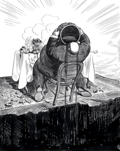 <Q>Capitalism,</Q> Art Young, private collection (reproduced in <EM>Harper's,</EM> Jan 2016, p. 64)