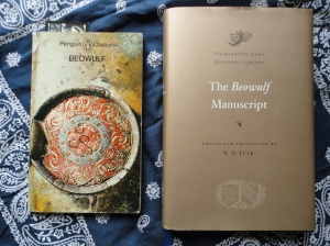 photo of two versions of Beowulf