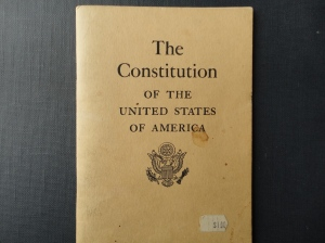 photo of booklet of US Constitution