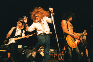 Guns N' Roses performing at the Los Angeles Street Scene, September 28, 1985 © Marc Canter