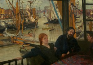 James McNeill Whistler (American, 1834–1903), Wapping, 1860–64, oil on canvas, John Hay Whitney Collection, National Gallery of Art, Washington