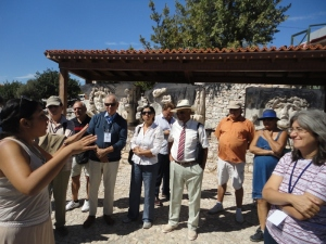 Our guide had fetched us from the Nesin Mathematics Village in the morning; now she showed everybody around the temple