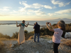 After a reception in the courtyard of the museum at Miletus, on the way back to Didim, we paused to enjoy the sunset