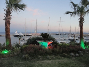 A banquet was held at the Didim marina