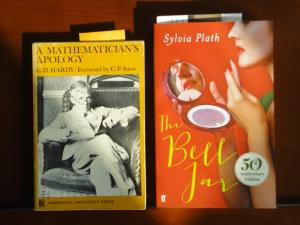 Photo: the Hardy and Plath books