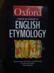 Concise Oxford Dictionary of English Etymology cover