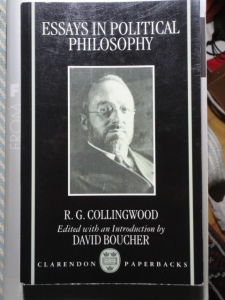 Collingwood, Essays in Political Philosophy, cover with Collingwood's photo