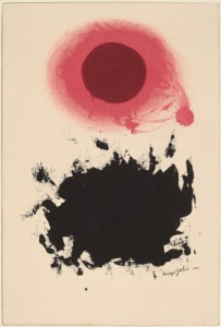 "Adolph Gottlieb, ""Centrifugal,"" gouache on paperboard, 1961 (National Gallery of Art, Washington; gift of the Woodward Foundation)"