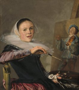 Judith Leyster (Dutch, 1609–1660), Self-Portrait, c. 1630, oil on canvas (National Gallery of Art, Washington; gift of Mr. and Mrs. Robert Woods Bliss)