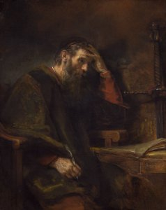 Rembrandt van Rijn (and Workshop?) (Dutch, 1606–1669), The Apostle Paul, c. 1657, oil on canvas (National Gallery of Art, Washington; Widener Collection)