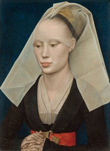 Rogier van der Weyden (Netherlandish, 1399/1400-1464), Portrait of a Lady, c. 1460, oil on panel, Andrew W. Mellon Collection