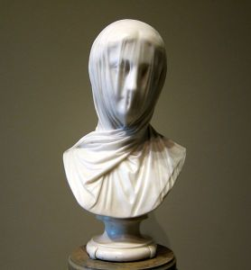 "Giuseppe Croff,  Italian, 1810–1869. Veiled Bust (""The Veiled Nun"") c. 1863 marble (National Gallery of Art, Washington; Corcoran Collection)"