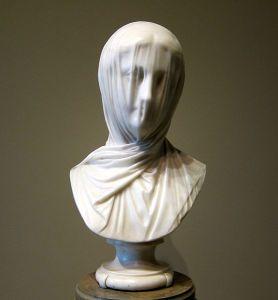 "Giuseppe Croff,  Italian, 1810–1869. Veiled Bust (""The Veiled Nun"") c. 1863 marble (National Gallery of Art, Washington; Corcoran Collection)"