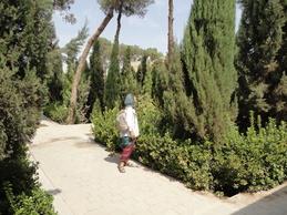 Garden of fire temple, Yazd, Iran, September, 2012