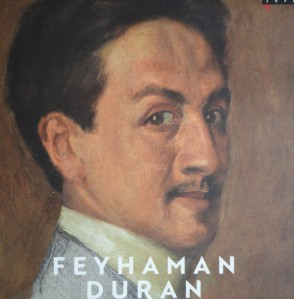 Feyman self-portrait from cover of exhibition catalogue