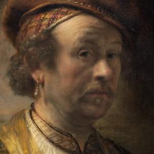 Rembrandt Workshop, Portrait of Rembrandt, 1650 (detail, oil on canvas, National Gallery of Art, Widener Collection)
