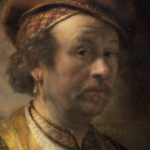 Rembrandt Workshop, Portrait of Rembrandt, 1650 (detail, oil on canvas, National Gallery of Art, Widener Collection)