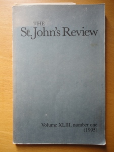 St. John's Review XLIII, number one (1995)