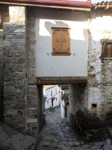 Covered passageway between stone houses, Şirince, January, 2018