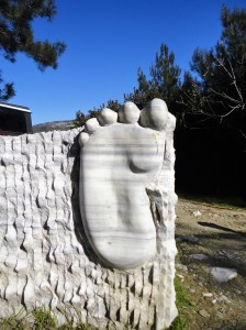 Sole of foot, carved in relief, Şirince, January, 2018