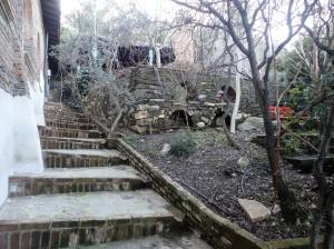 Garden in winter, outside Nişanyan Library