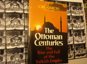 Sun behind mosque on cover of The Ottoman Centuries (Lord Kinross, a.k.a. Patrick Balfour)