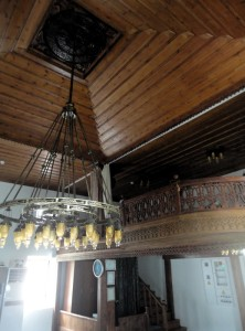 Wooden ceiling of Kocabey mosque