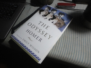 Book on table, Wilson's Odyssey
