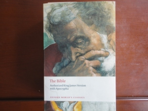 King James Bible, Oxford Worlds Classics edition, Michaelangelos Jeremiah on cover