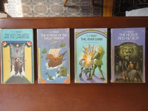 Narnia books 1, 3, 4, 5