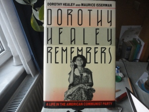 The book *Dorothy Healey Remembers,* with photo of subject
